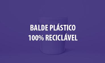 Balde plástico 100% reciclável